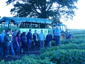 Devon Young Farmers Visit Killerton Limousin 2014