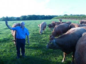 Patrick Greed hosts Devon Young Farmers 2014